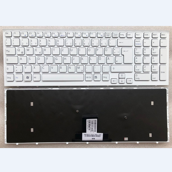 Keyboard SONY VAIO VPC-EB German white with frame