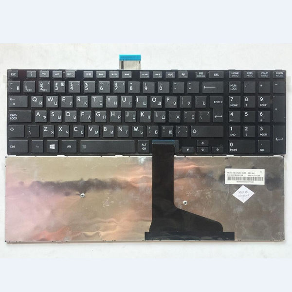 Keyboard Toshiba Satellite C50 C50-A C55D C55-A C50T-A C50DT-A RU black with frame