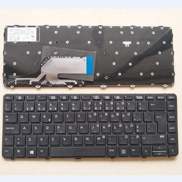 Keyboard HP ProBook 430 G3 430 G4 440 G3 440 G4 PO black with frame